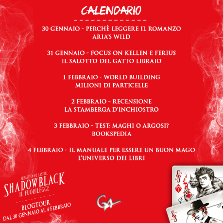 Blogtour Shadowblack - Calendario
